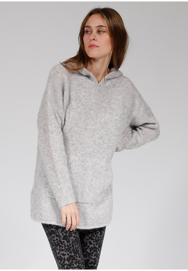MIT KÄNGURUTASCHE - Sweatshirt - light grey melange