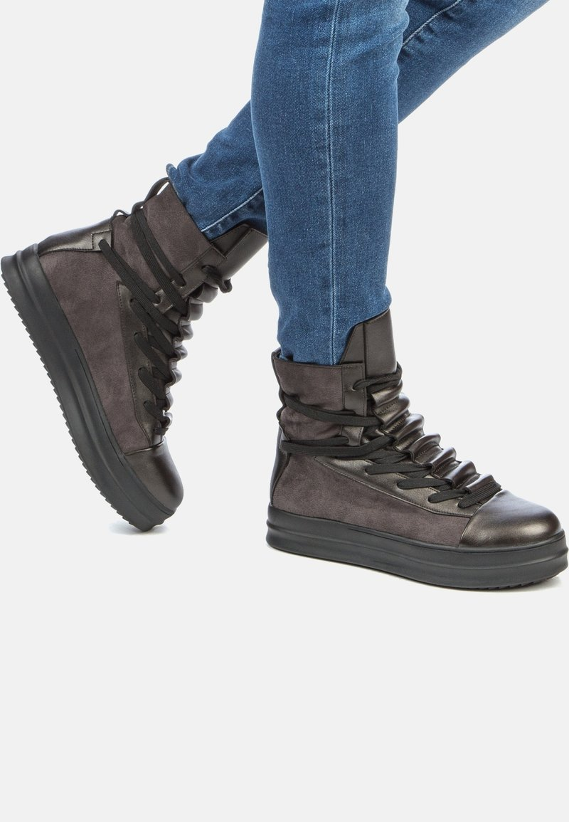 Betsy - Platform ankle boots - dark grey/black