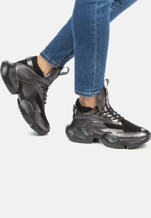 Trainers - dark silver/black
