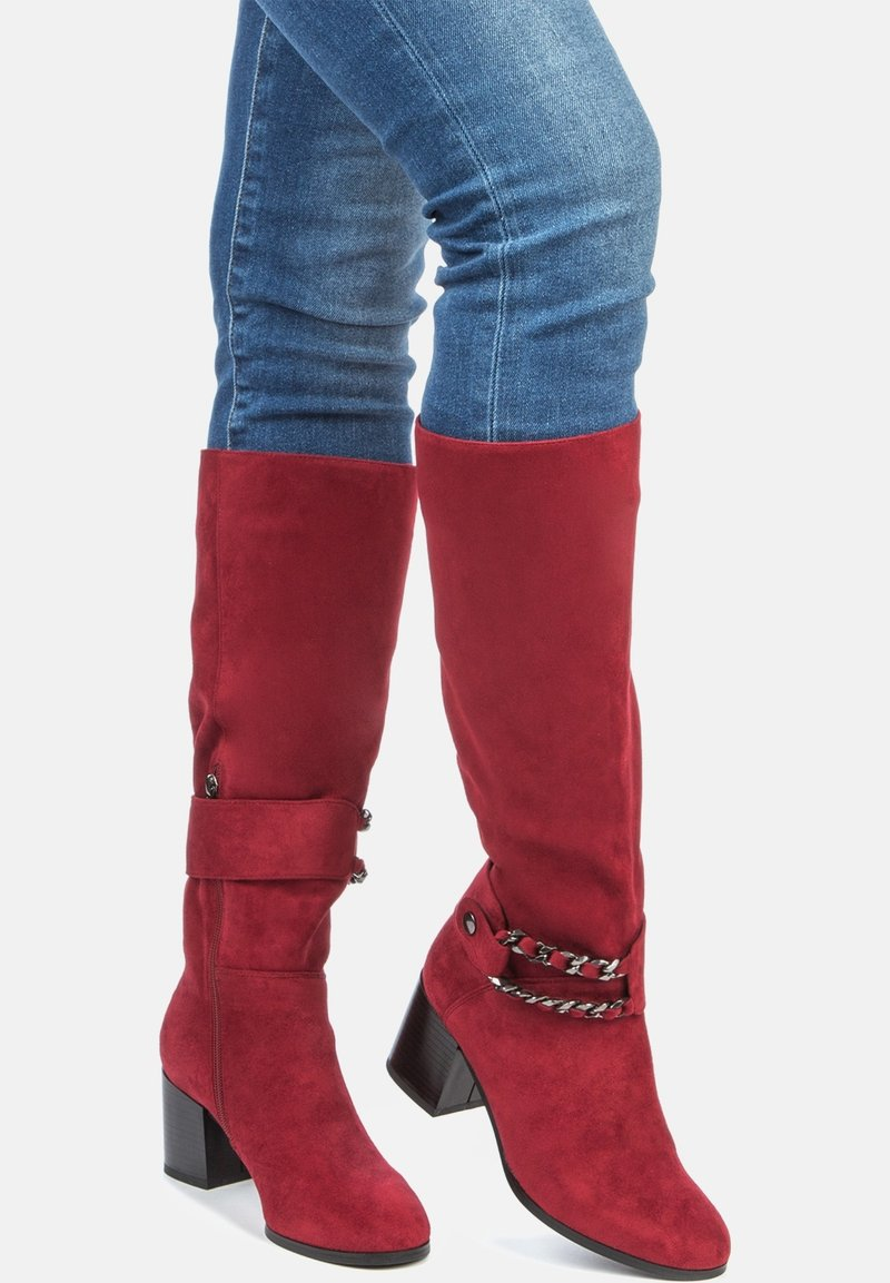 Betsy - High heeled boots - red