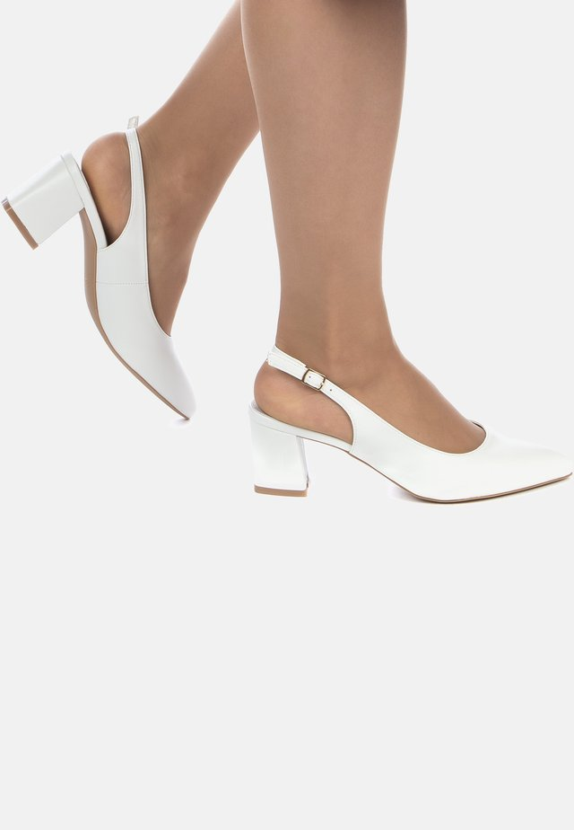CHAUSSURES - High heeled sandals - blanc