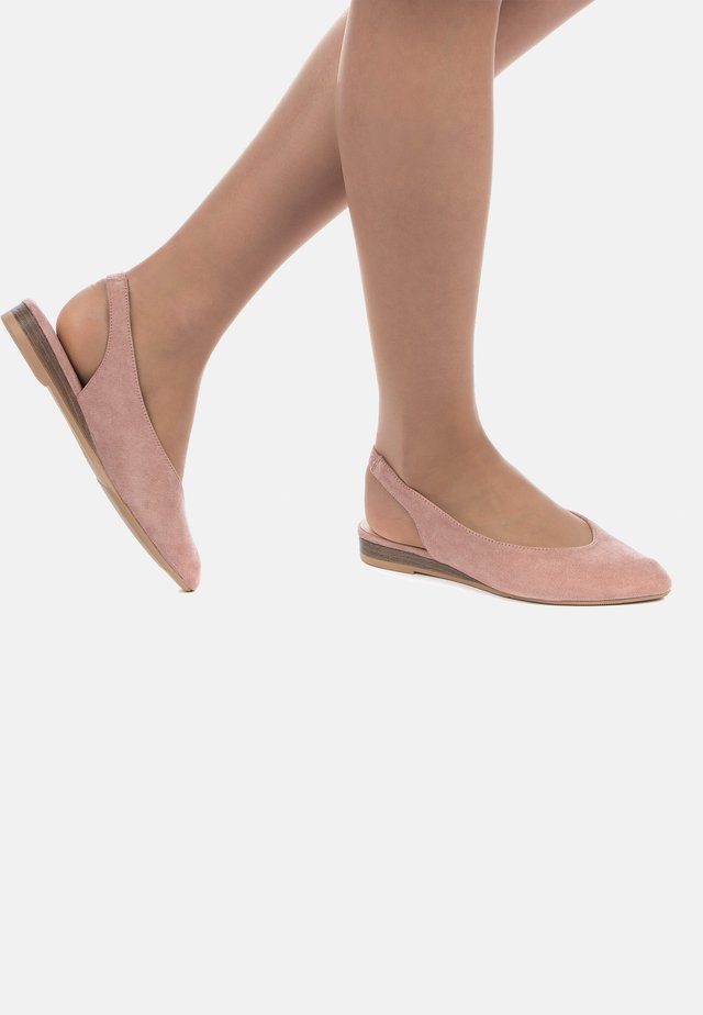 BALLERINES - Slingback ballet pumps - rose