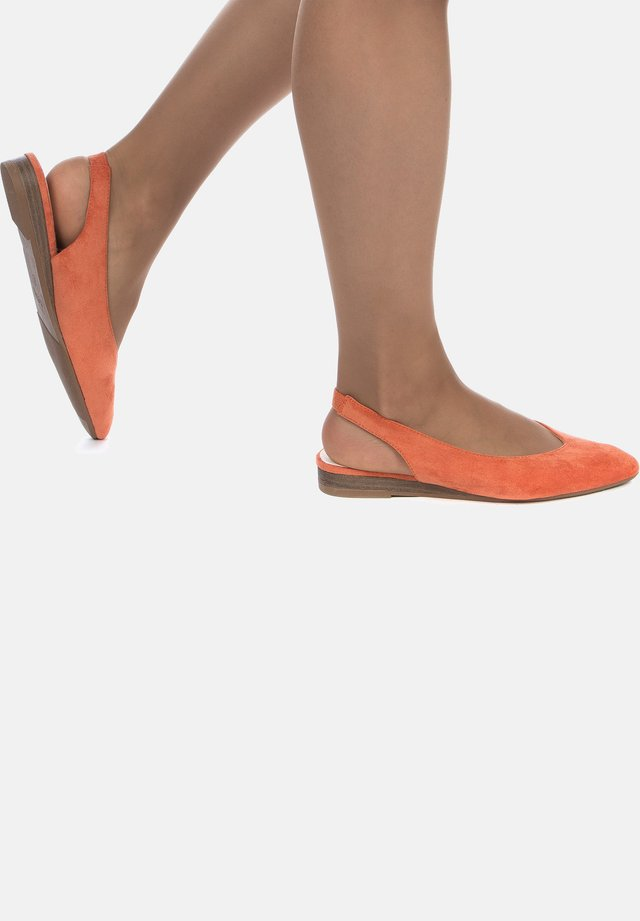 Slingback ballet pumps - orange