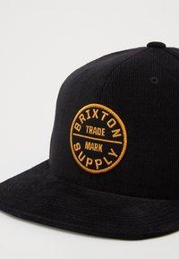 Brixton - OATH SNAPBACK - Gorra - black - 3