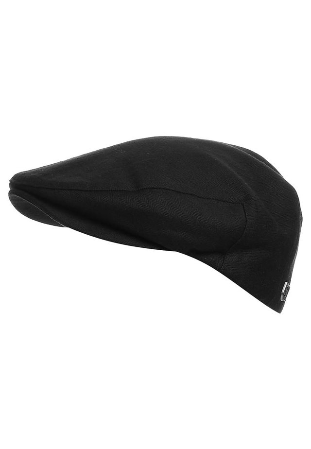 Beanie - black herringbone twill