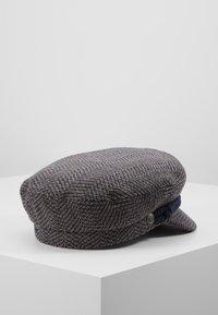 Brixton - FIDDLER CAP - Czapka - washed navy/mauve - 2