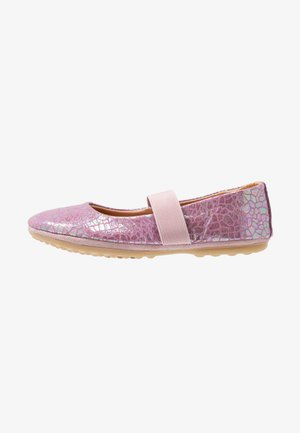 QUINN - Ankle strap ballet pumps - grape