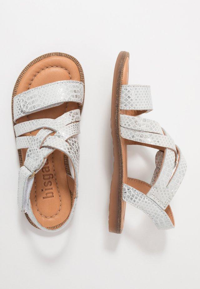 BARBARA - Sandaalit nilkkaremmillä - silver
