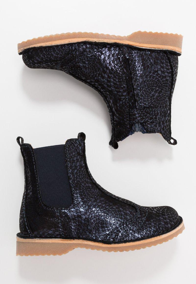Bisgaard - BOOTIES - Kotníkové boty - navy swirl