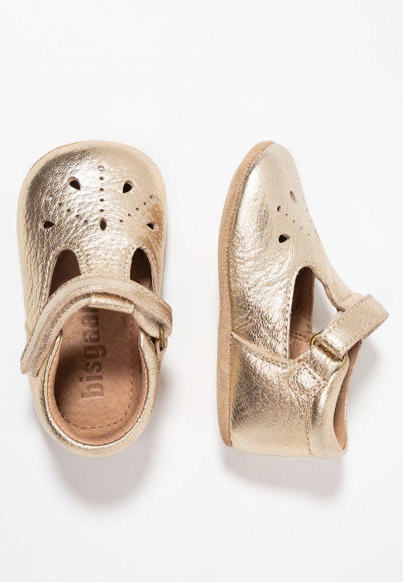 Bisgaard - BLOOM HOME SHOE - First shoes - gold