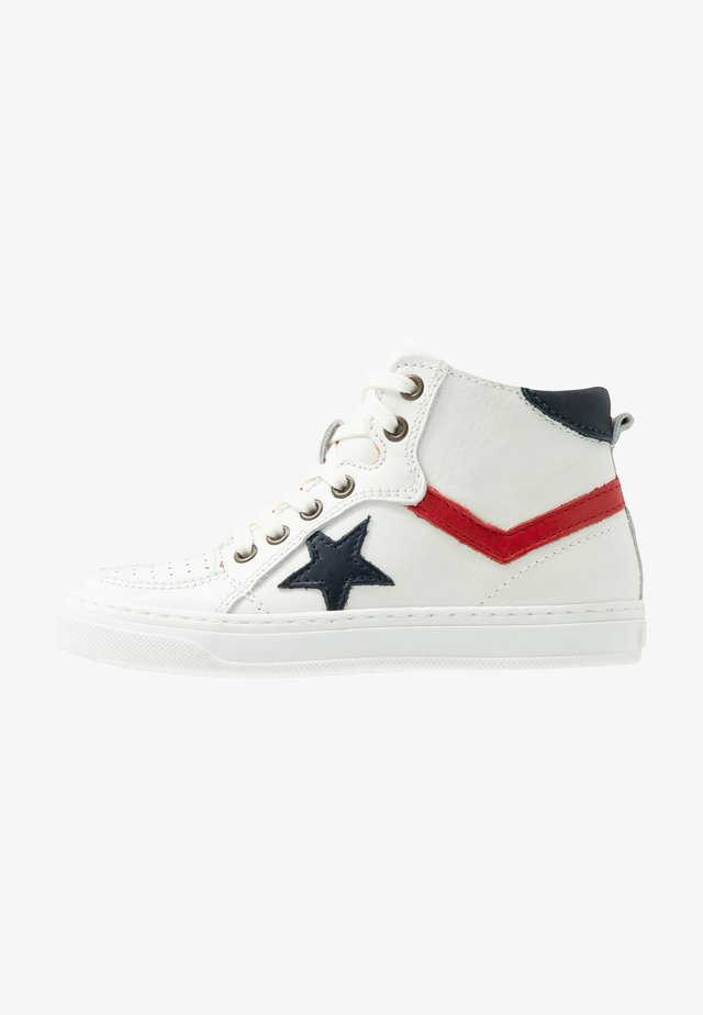 ISAK LACE SHOE - High-top trainers - white/red