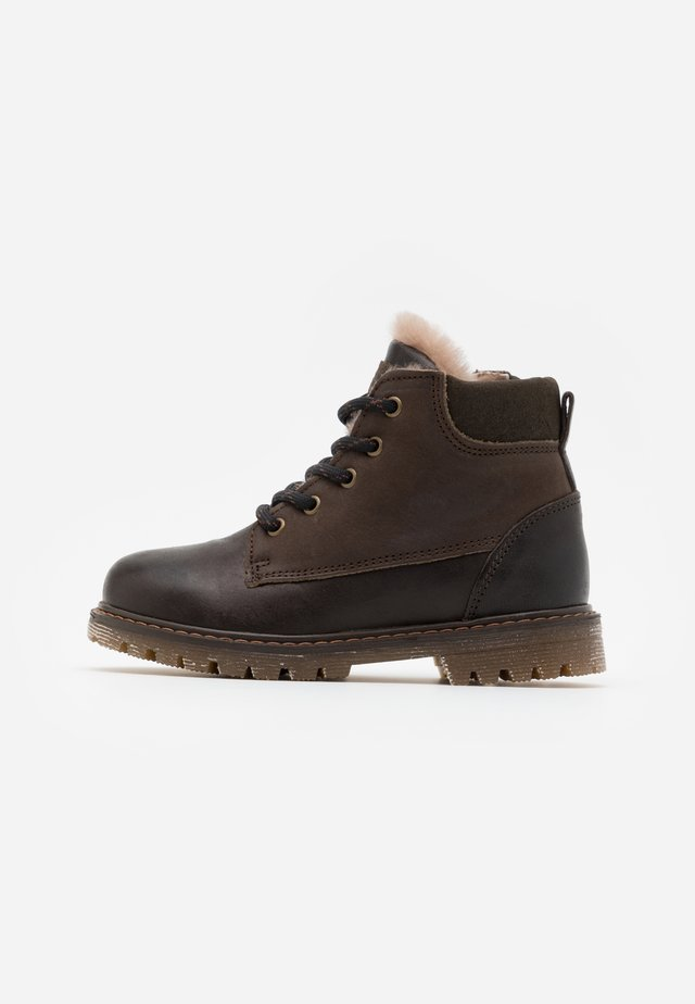 HECTOR - Lace-up ankle boots - coffee