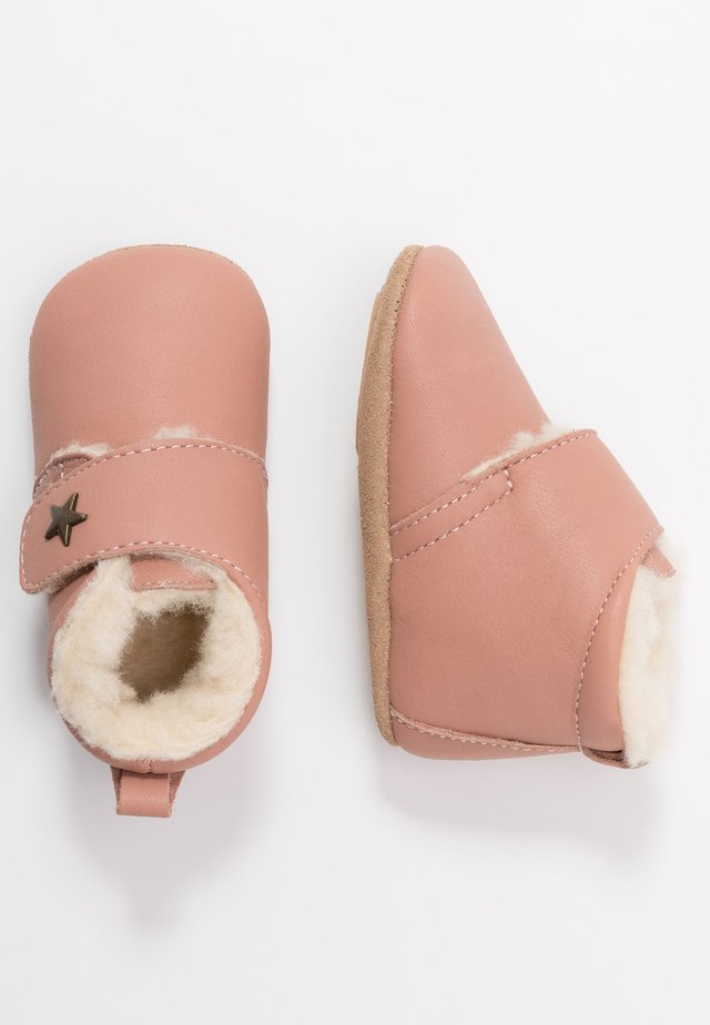 WARM BABY STAR HOME SHOE - Kravlesko - nude