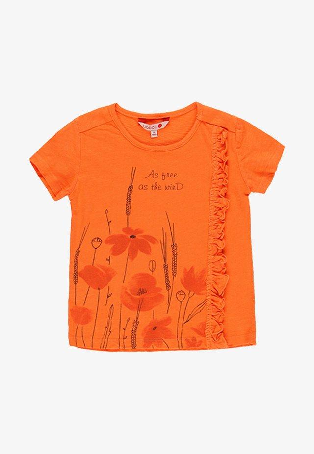 Print T-shirt - tangerine