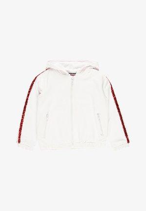 veste en sweat zippée - white