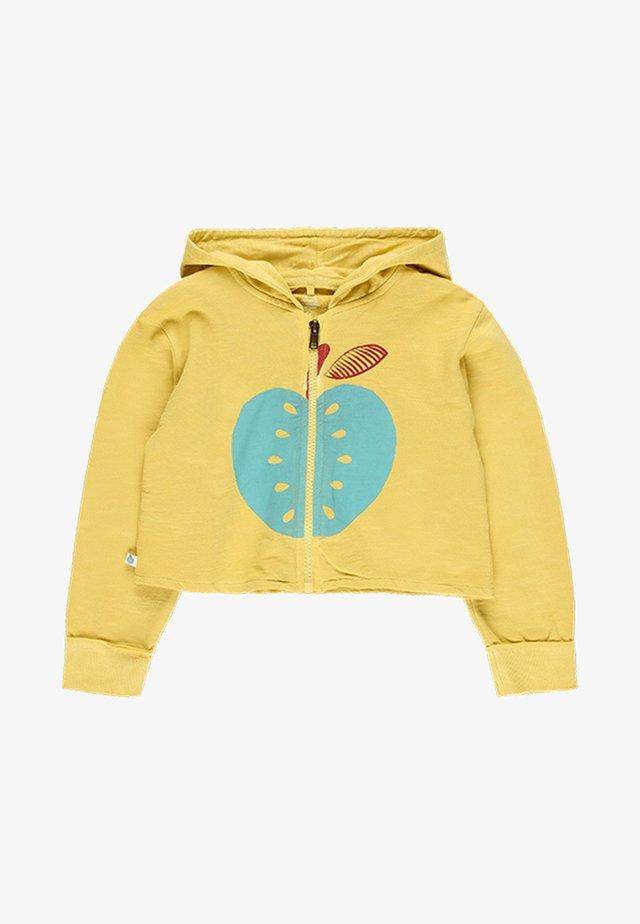 Zip-up hoodie - grapefruit