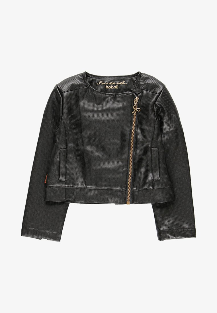 Boboli - Faux leather jacket - black