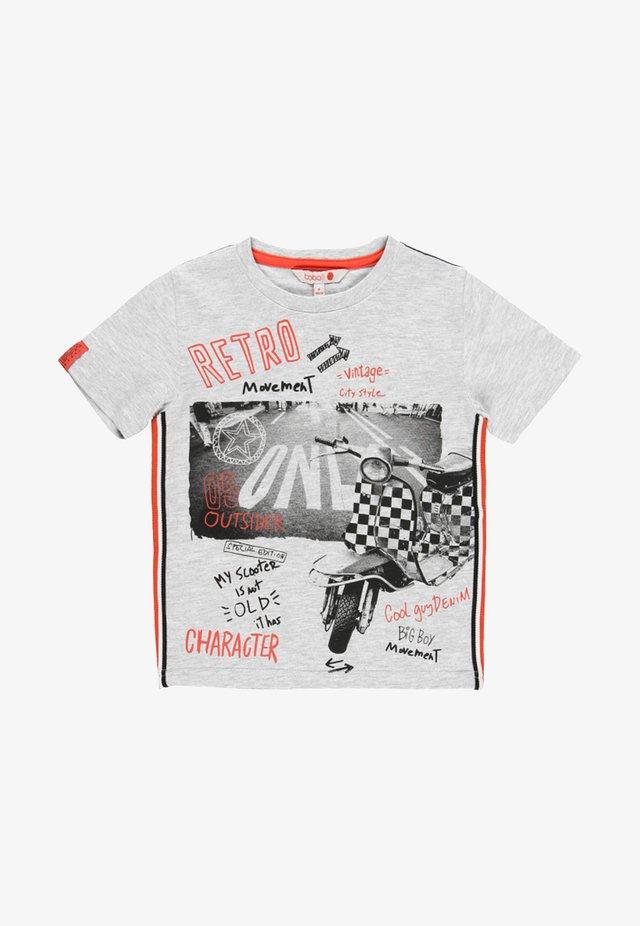 T-Shirt print - light melange grey