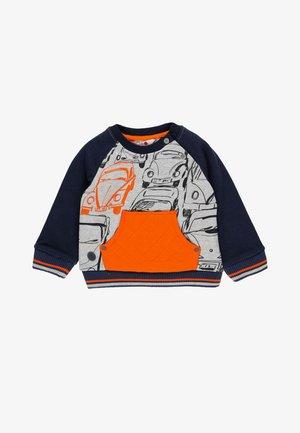 Sweater - grey/orange