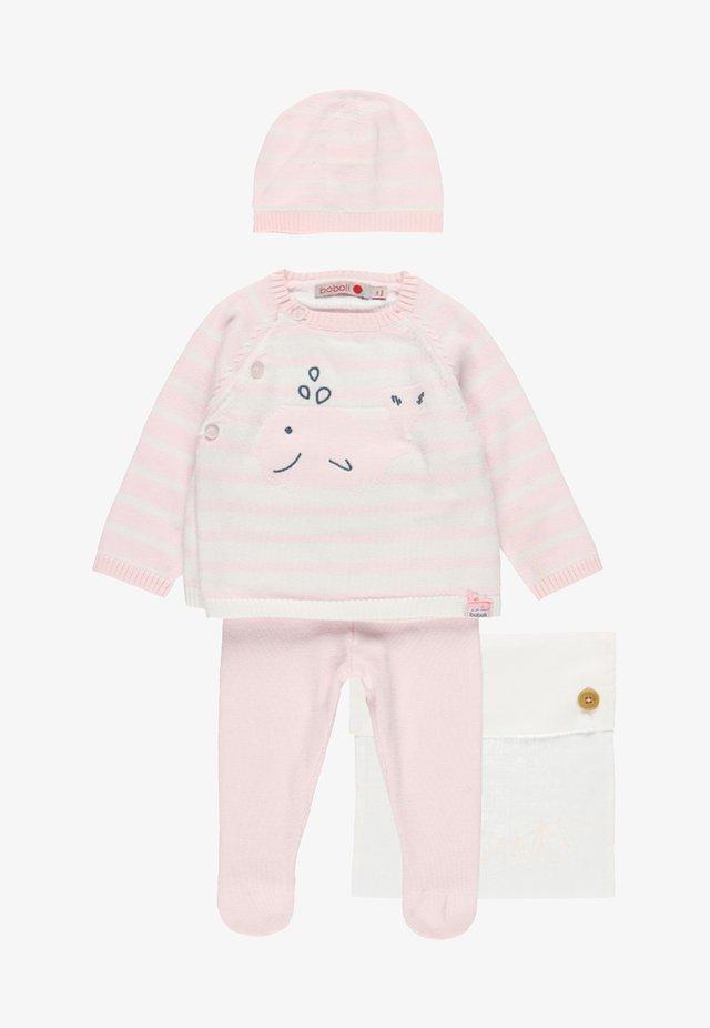 PACK STRICK FÜR BABY - Strickpullover - light pink