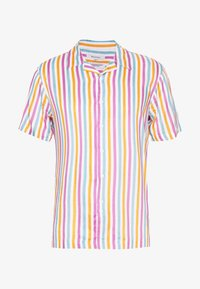 Bellfield - CUBAN COLLAR STRIPE PRINT - Shirt - white - 4