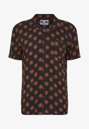 SINGLE POCKET CUBAN COLLAR DIAL - Skjorte - black