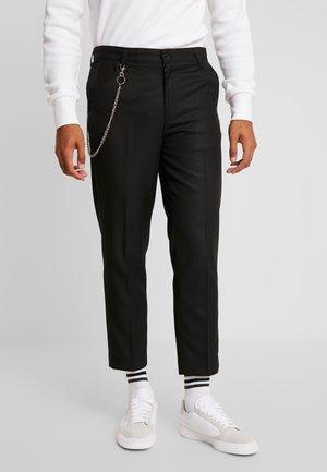 CROPPED SKATER TROUSER - Kalhoty - black