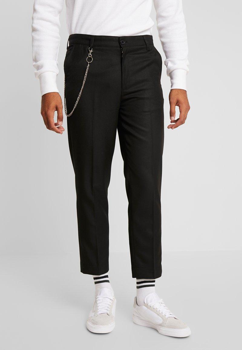 Bellfield - CROPPED SKATER TROUSER - Trousers - black