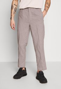 Bellfield - CROPPED TAILORED HOUNDSTOOTH TROUSER - Kalhoty - mushroom - 0