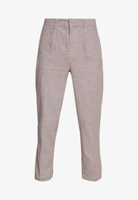 Bellfield - CROPPED TAILORED HOUNDSTOOTH TROUSER - Kalhoty - mushroom - 4