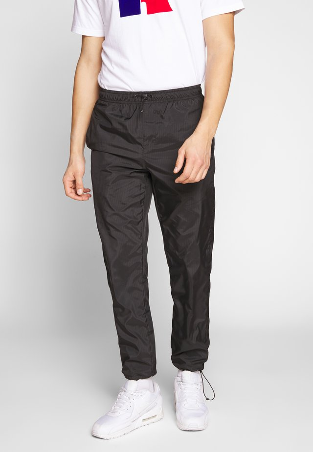 RIPSTOP DRAWSTRING TROUSER - Tracksuit bottoms - black