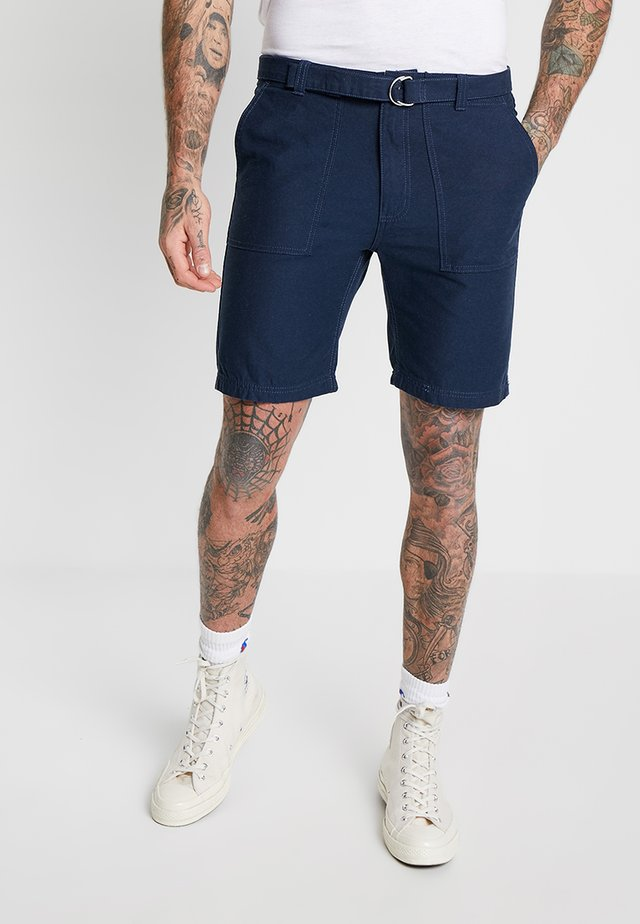 WIDE LEG BELTED UTILITY  - Shorts - navy