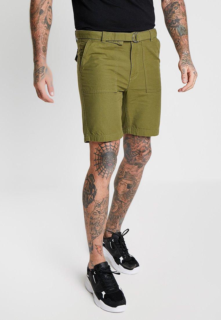 Bellfield - WIDE LEG BELTED UTILITY  - Shorts - khaki