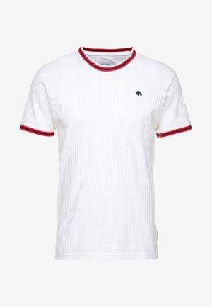 SPORTS RIB RAGLAN - Print T-shirt - white