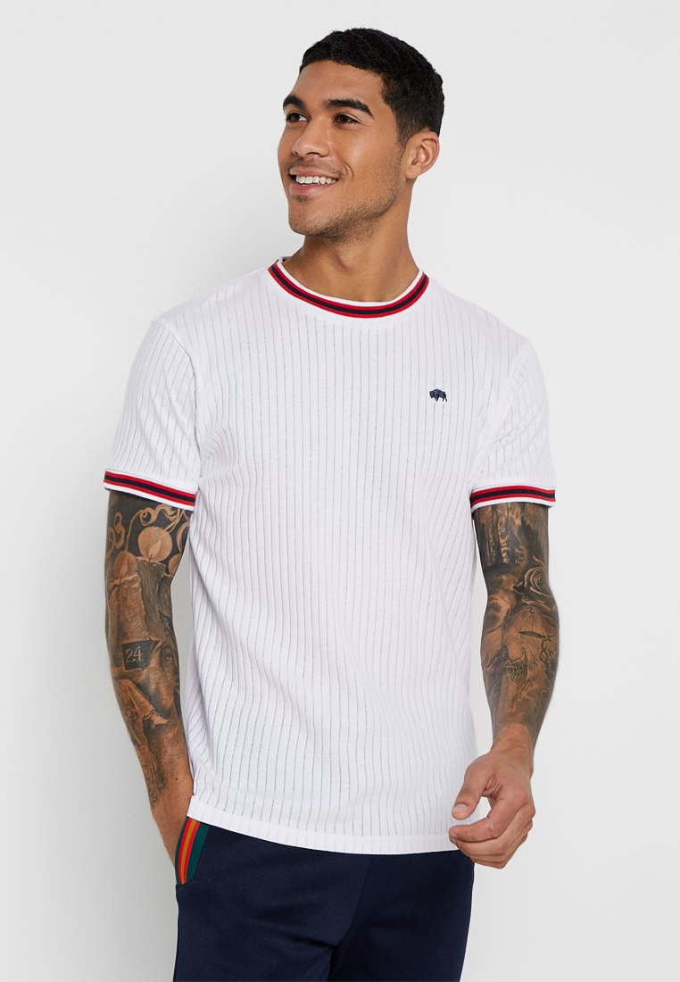 Bellfield - SPORTS RIB RAGLAN - T-shirt imprimé - white