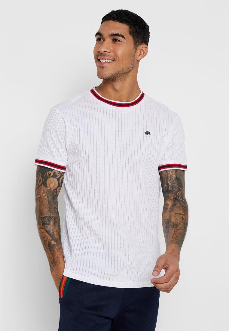 Bellfield - SPORTS RIB RAGLAN - T-Shirt print - white