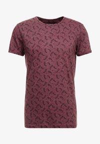Bellfield - DITSY - T-shirt imprimé - oxblood - 3