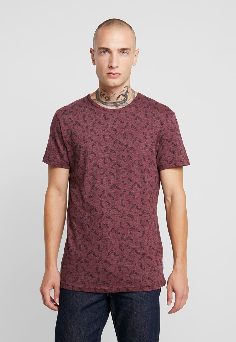 Bellfield - DITSY - T-shirt imprimé - oxblood