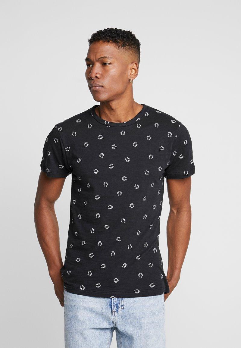 Bellfield - HORSESHOW DITSY - T-shirt imprimé - black