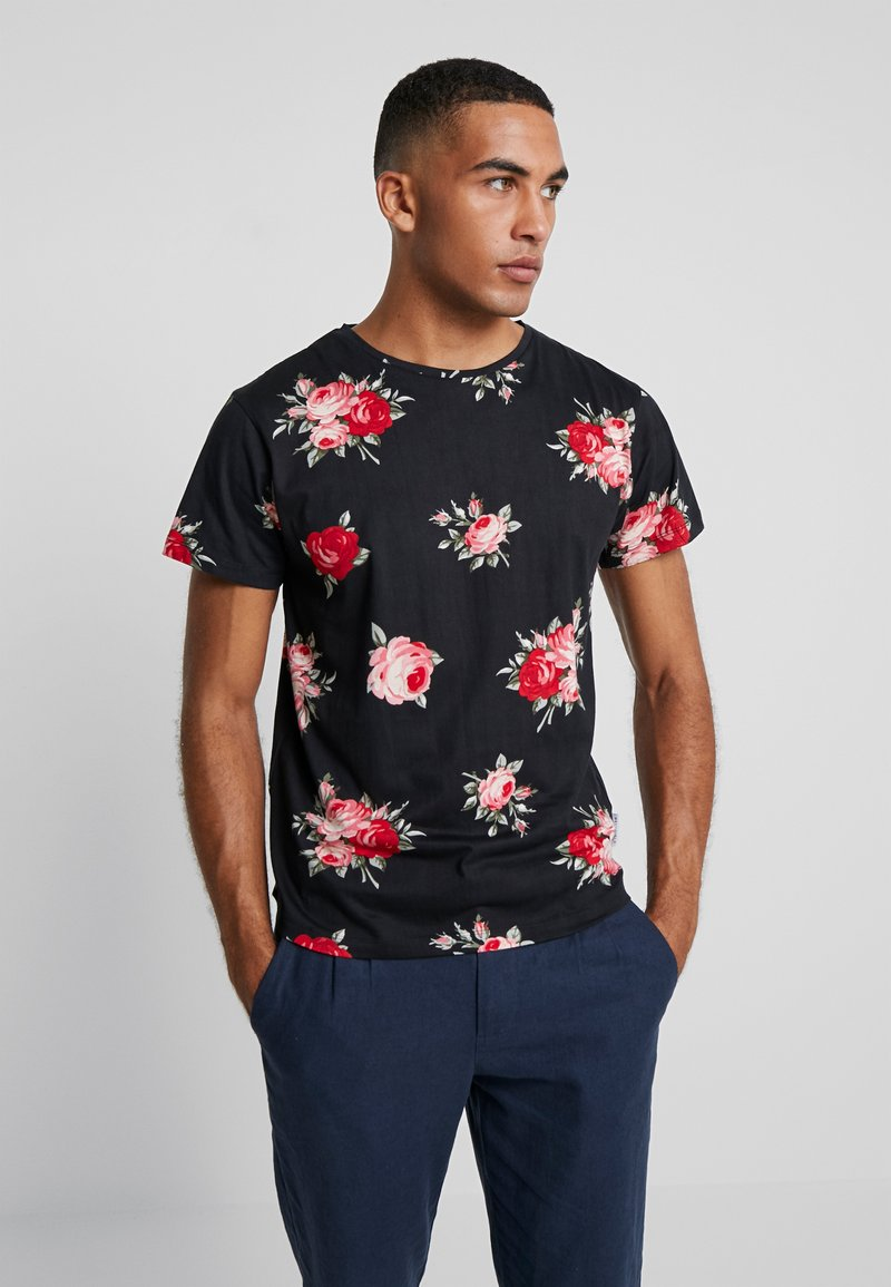 Bellfield - ROSE - Print T-shirt - black