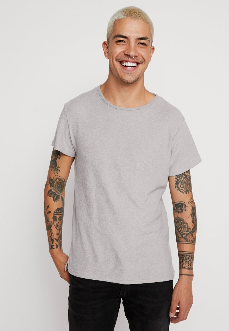 Bellfield - CREW NECK TOWELLING - Basic T-shirt - grey marl