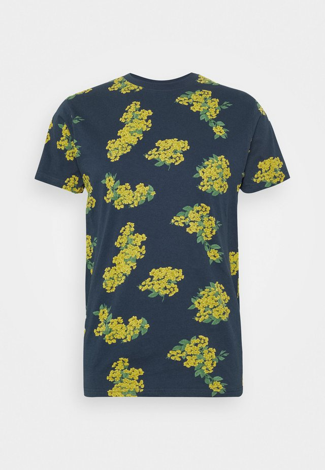 ELLIOT REPEAT PRINT TEE  - T-shirt print - navy