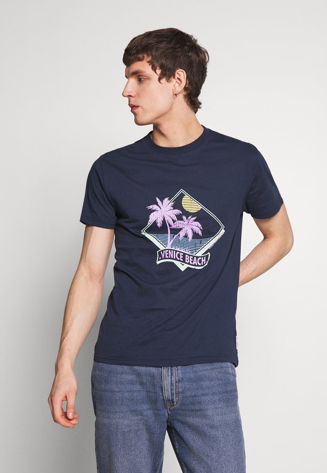 VENICE BEACH PRINT - T-shirt med print - navy