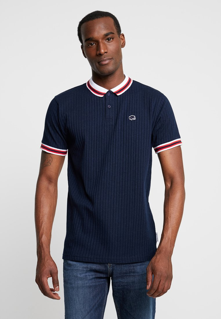 Bellfield - DROP NEEDLE WITH TIPPING - Polo shirt - navy