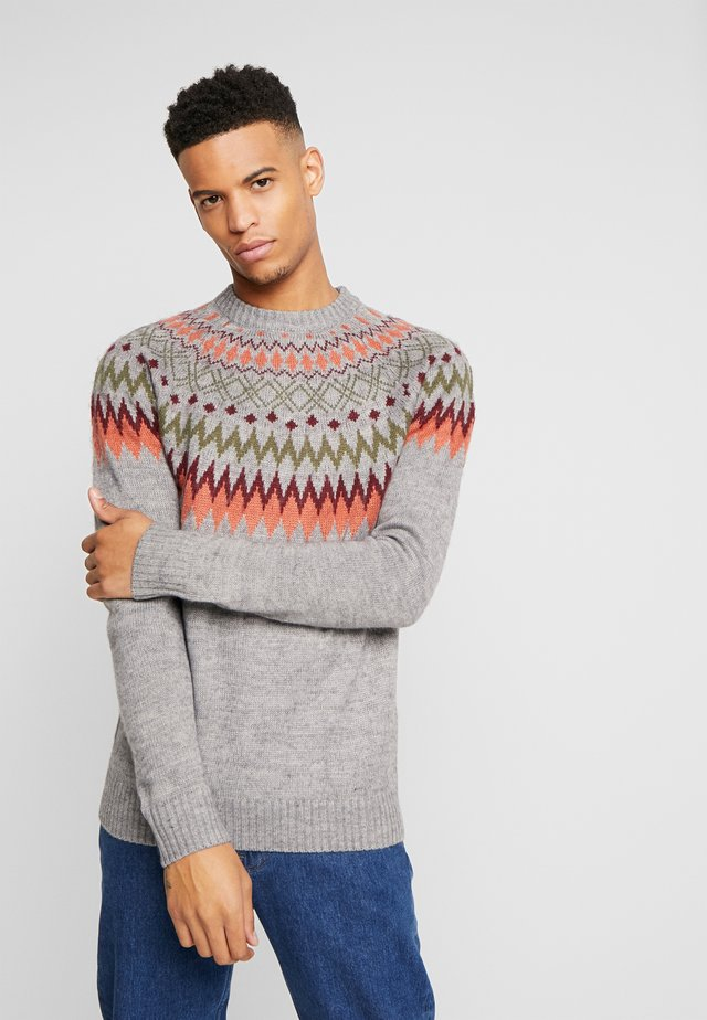 CIRCULAR FAIRISLE - Jumper - grey marl