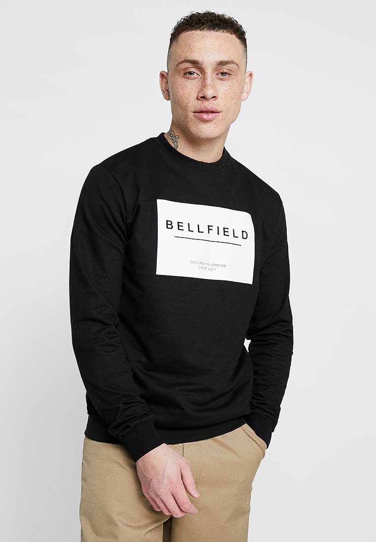 Bellfield - BOX LOGO CREW NECK - Collegepaita - black