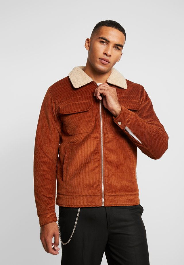 SHERPA COLLAR JACKET - Light jacket - ginger brown