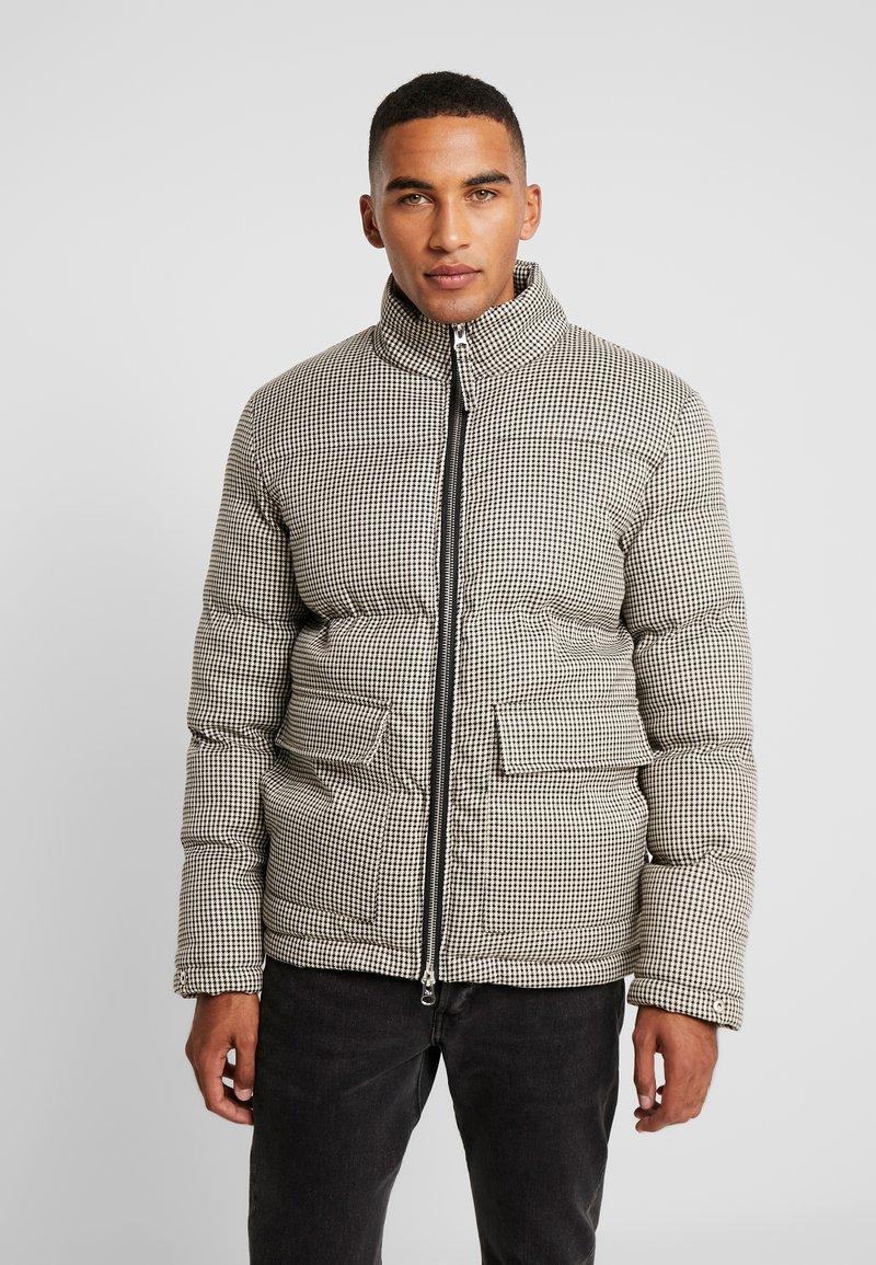 Bellfield - HOUNDSTOOTH PUFFER - Winter jacket - beige