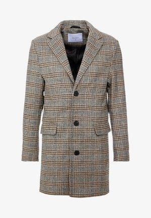 CHECK OVERCOAT - Classic coat - grey