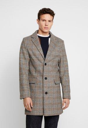 CHECK OVERCOAT - Zimní kabát - grey